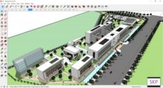 Sketchup school H1 3D Model