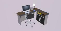 Chehoud Office Desk Model 16 3D Model