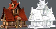 House Cartoon V02 3D Model