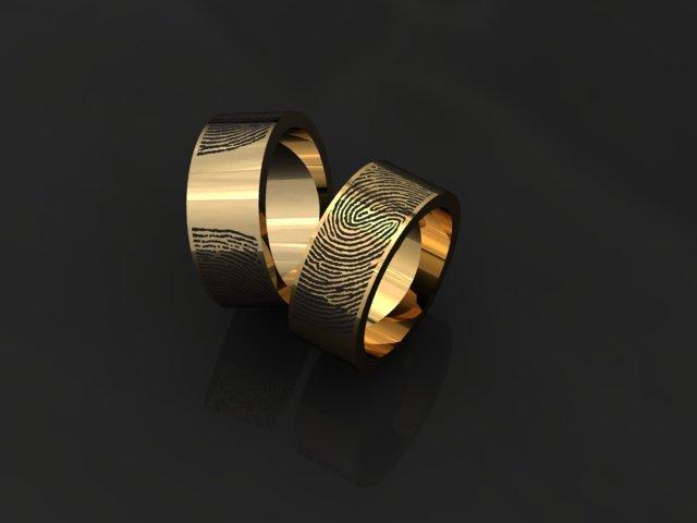 Fingerprint ring 3D Model