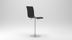 Low Poly Bar Chair Free 3D Model