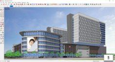 Sketchup Hospital F8 3D Model