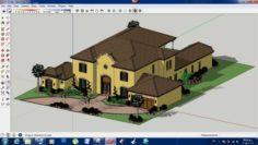 Villa sketchup – 2 3D Model