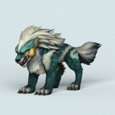 Fantasy Monster Warrior Wolf 3D Model