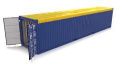 40ft Shipping Container Open Top 2 3D Model