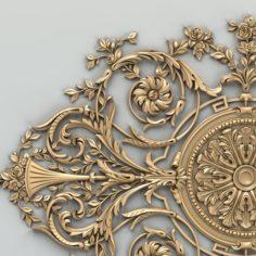 Carved decor central 017 3D Model