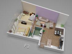 3D plan house 3D Model