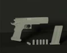 STI gun for animation 3D Model