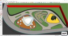 Sketchup Park J2 3D Model