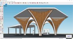 Sketchup Entrance gate B1 3D Model