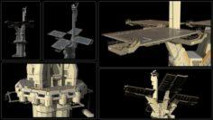 Sci-fi landing platform 3 3D Model