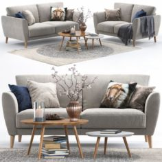 Pohjanmaan Aria sofa 3D Model