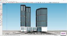 Sketchup Hotel H8 3D Model
