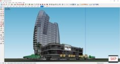 Sketchup commercial complex K7 3D Model