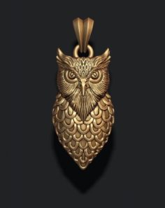 Owl pendant 3D Model