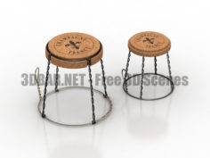 Champagne France Chairs 3D Collection