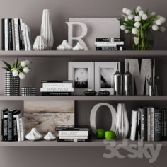 decorative set with books 03                                      3D Model