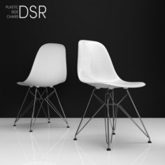 Eames DSR plastic side chairs 3D Model