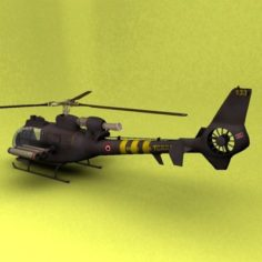 SA-341 France 3D Model