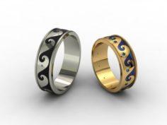Wedding rings 3D-N – 003 3D Model