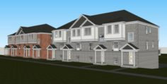 Attached Housing 3D Model