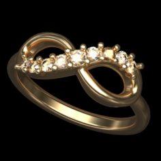 Diamond Infinity ring 3D Model