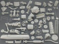 Kit bash54 pieces – collection-15 3D Model