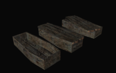 Common coffins 3D Model