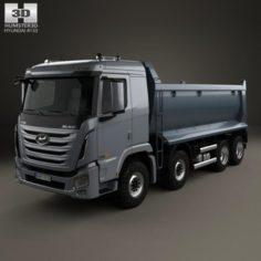 Hyundai Xcient P540 Dump Truck 4-axle 2013 3D Model