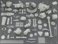 Kit bash53 pieces – collection-13 3D Model