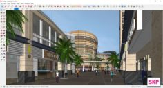 Sketchup Shopping mall E5 3D Model