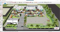 Sketchup kindergarten A9 3D Model