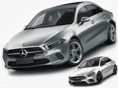 Mercedes A-class sedan 2 versions 3D Model