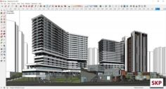 Sketchup Commercial and office complex M6 3D Model