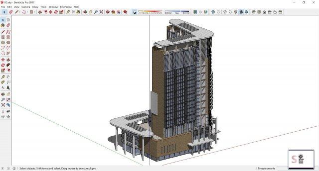 Sketchup office building K3 3D Model