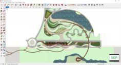 Sketchup Recreational complex B6 3D Model