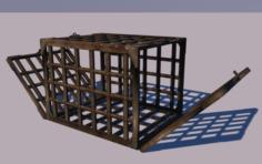 Metal cage long double 3D Model