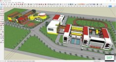 Sketchup school H26 with cad file – dwg 3D Model