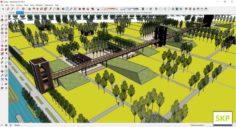 Sketchup Park J3 3D Model