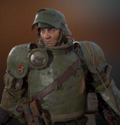 Soldier of war – A33 3D Model