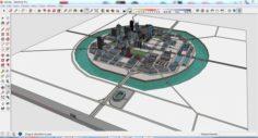 City 3d sketchup – 10 3D Model