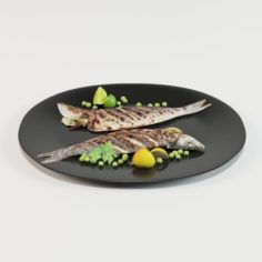 Grilled Whole Fish 3D Model