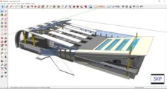 Sketchup bus terminal C6 3D Model