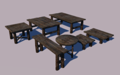 Cammon Tables 3D Model
