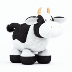 Stuffed cow toy 3D Model