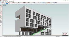 Sketchup building Dorm A1 3D Model