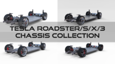 Tesla Roadster Model S X 3 Chassis Pack 3D Model
