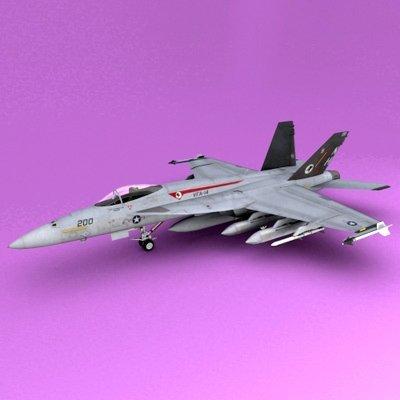 F-18E-F Super Hornet 3D Model