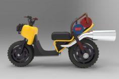 Sporty motorcycle 3D Model