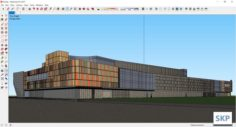 Sketchup Shopping mall E6 3D Model